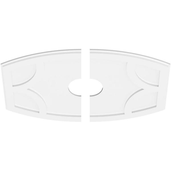 Ekena Millwork 36 In W X 24 In H X 6 In Id X 1 In P Kailey Architectural Grade Pvc Contemporary Ceiling Medallion 2 Piece 192770569181 The Home Depot