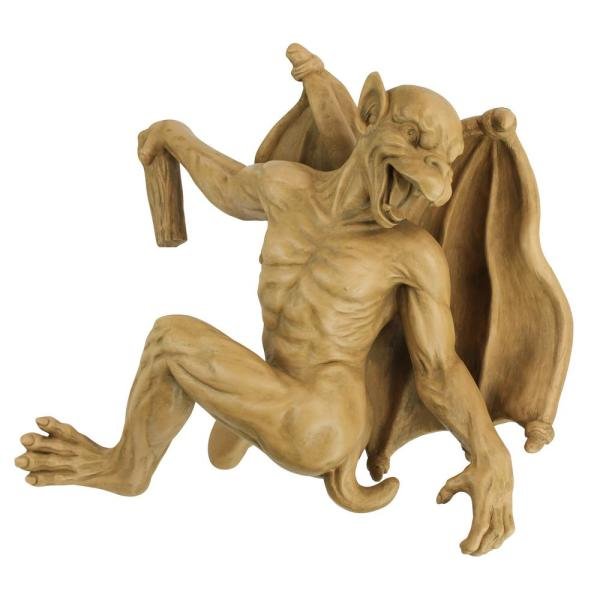 15 in. H Gaston, the Gothic Gargoyle Climber Large Sculpture