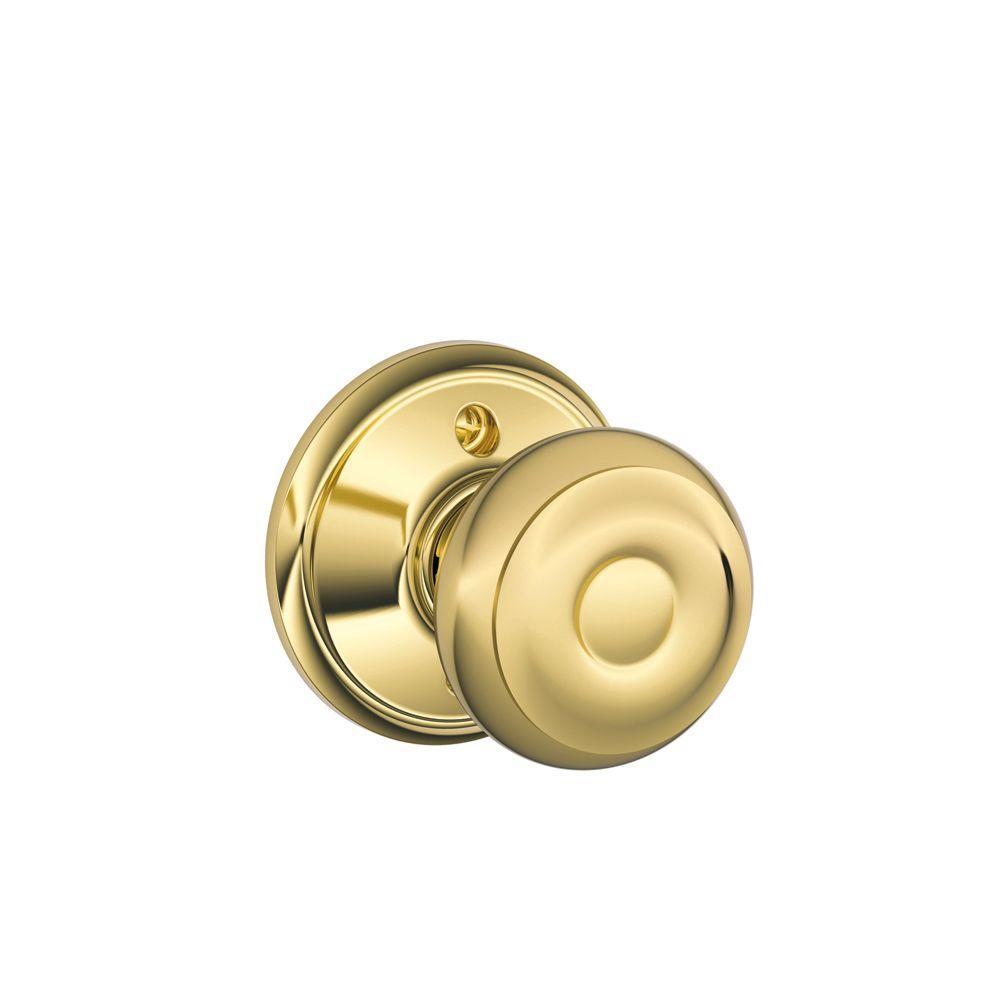 Georgian Bright Brass Dummy Door Knob