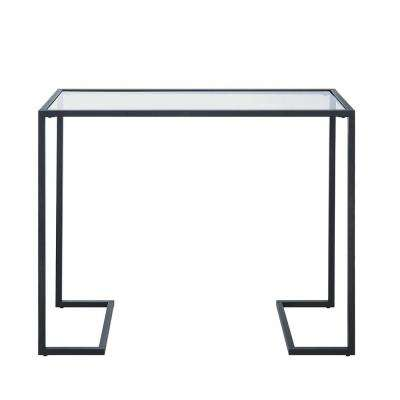 Monaco Black Glass Top Console