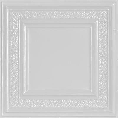 County Cork 2 ft. x 2 ft. Nail Up Tin Ceiling Tiles Surface Mount White (48 sq. ft./case)