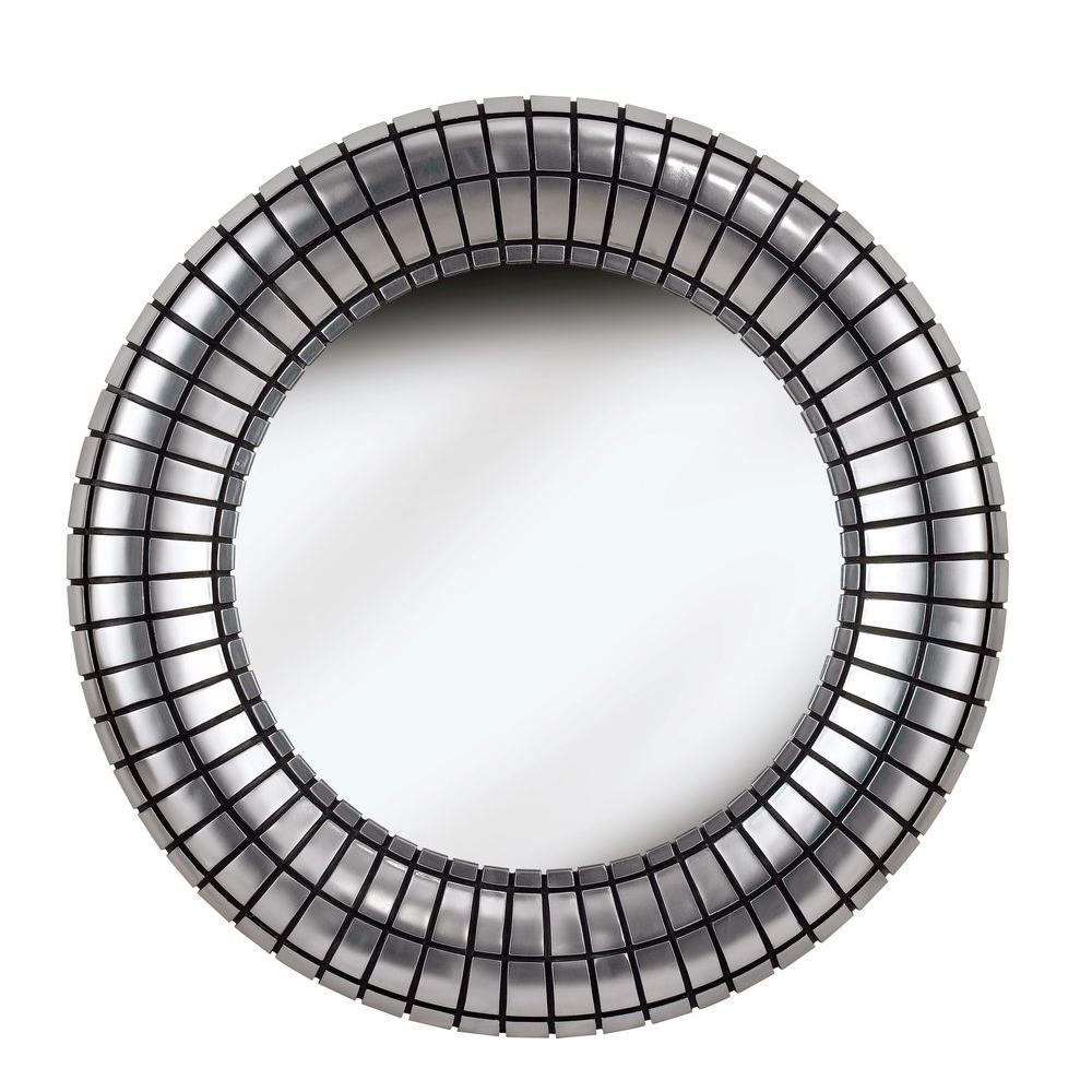 Home Decorators Collection Inga 34 in. Round Polyurethane Framed Mirror