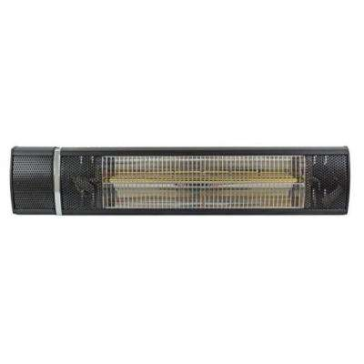 1,500-Watt Infrared Wall Mount Black Electric Patio Heater