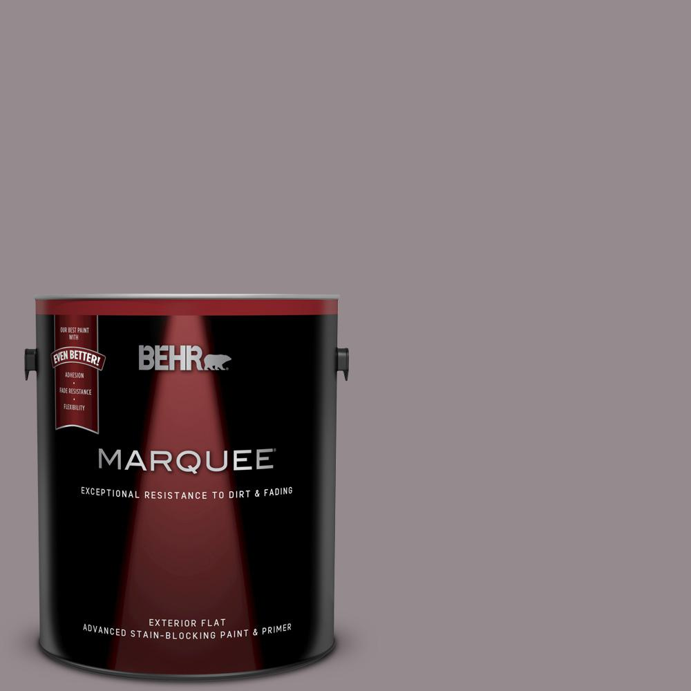 Behr Marquee 1 Gal T18 03 Graylac Flat Exterior Paint And Primer In One 445401 The Home Depot