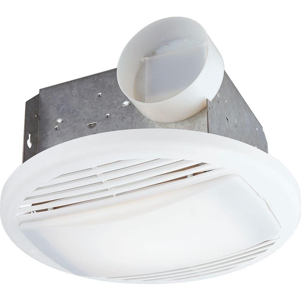 Progress Lighting White 1-Light, 70 cfm Ventilation Fan -DISCONTINUED