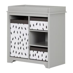 Remarkable South Shore Vito 3 Shelf Soft Gray Changing Table 10541 Download Free Architecture Designs Embacsunscenecom