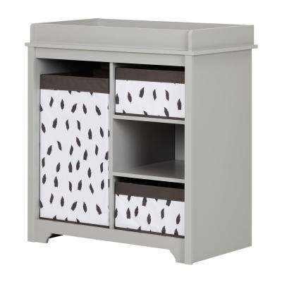 Vito 3-Shelf Soft Gray Changing Table