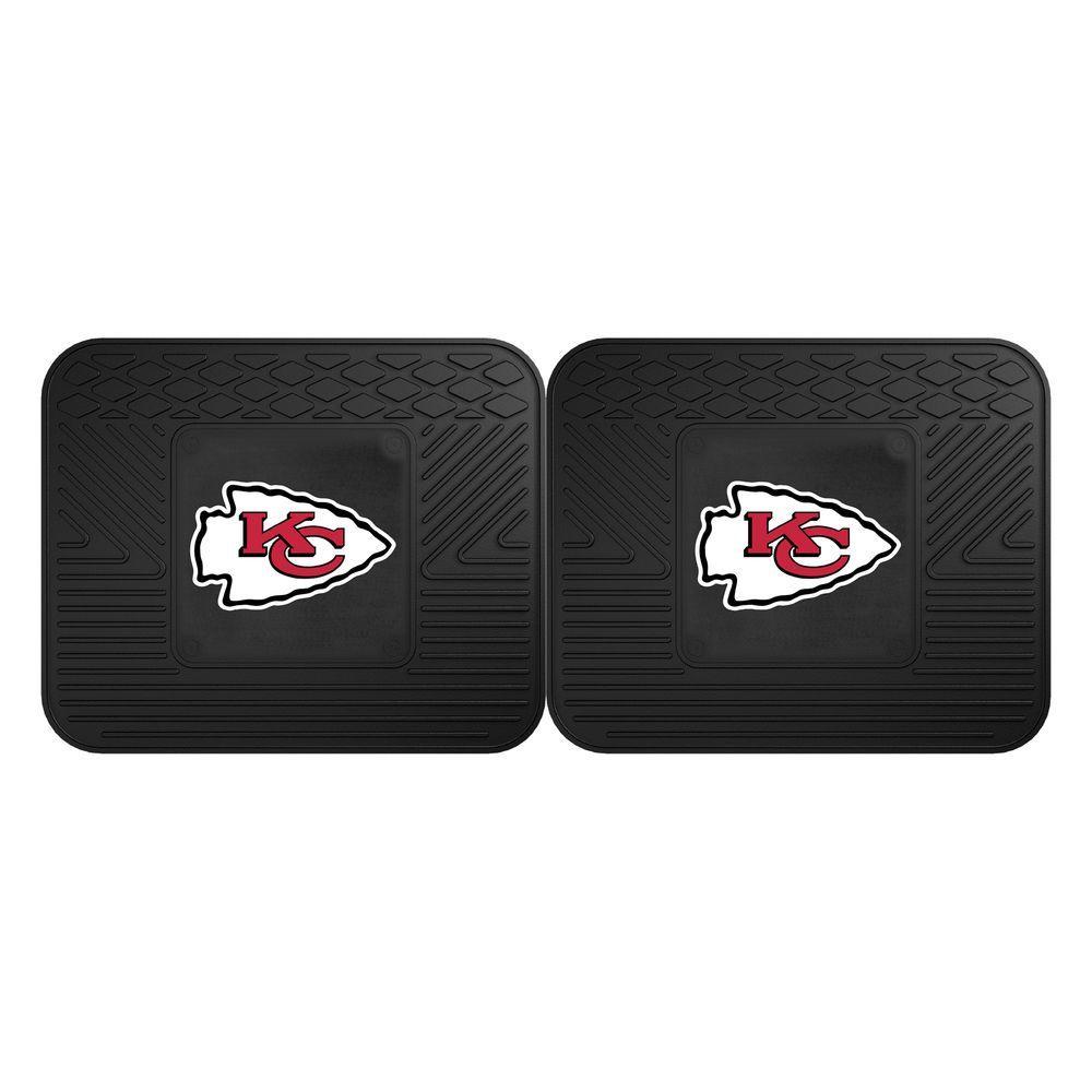 NFL Kansas City Chiefs Black Heavy Duty 2-Piece 14 in. x 17 in. Vinyl Utility