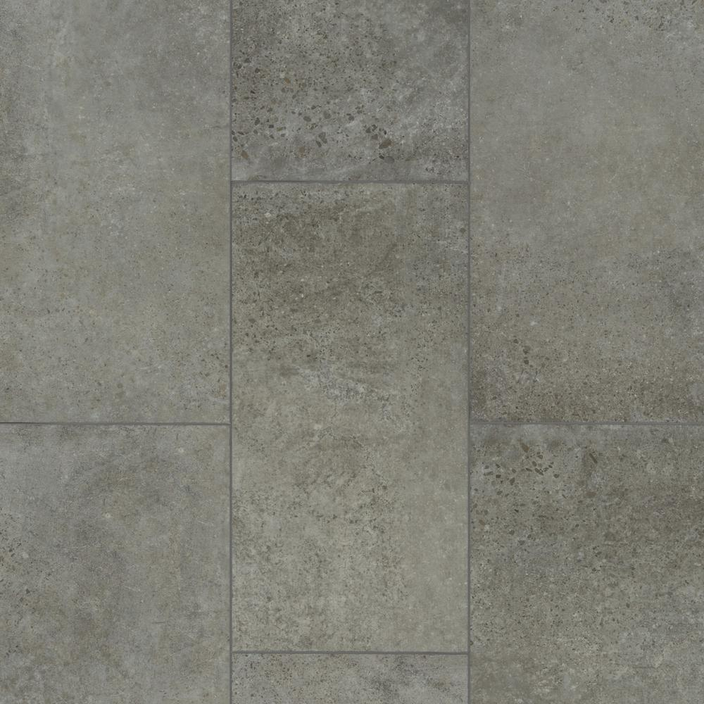 Shaw Take Home Sample - Vista Atlantic Grey Luxury Vinyl Tile Flooring - 5 in. W x 7 in. L