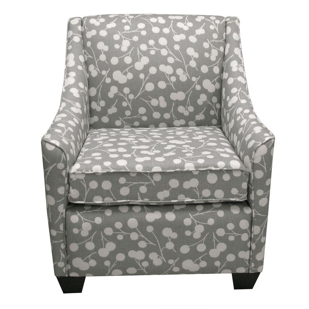 Home Decorators Collection Galena Shadow Upholstered Armchair-DISCONTINUED