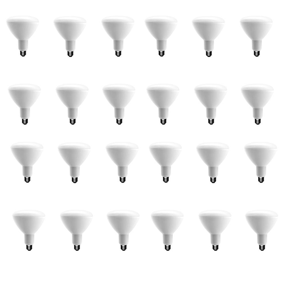75-Watt Equivalent BR40 Dimmable CEC LED Light Bulb Soft White (24-Pack)