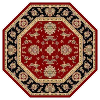 Classic Bijar Red 7 ft. 7 in. x 7 ft. 7 in. Octagon Area Rug