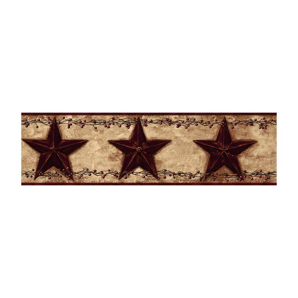 Best of Country Barn Star Berry Wallpaper Border