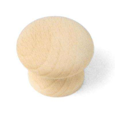 Au Natural 1-1/2 in. Wood Mushroom Cabinet Knob