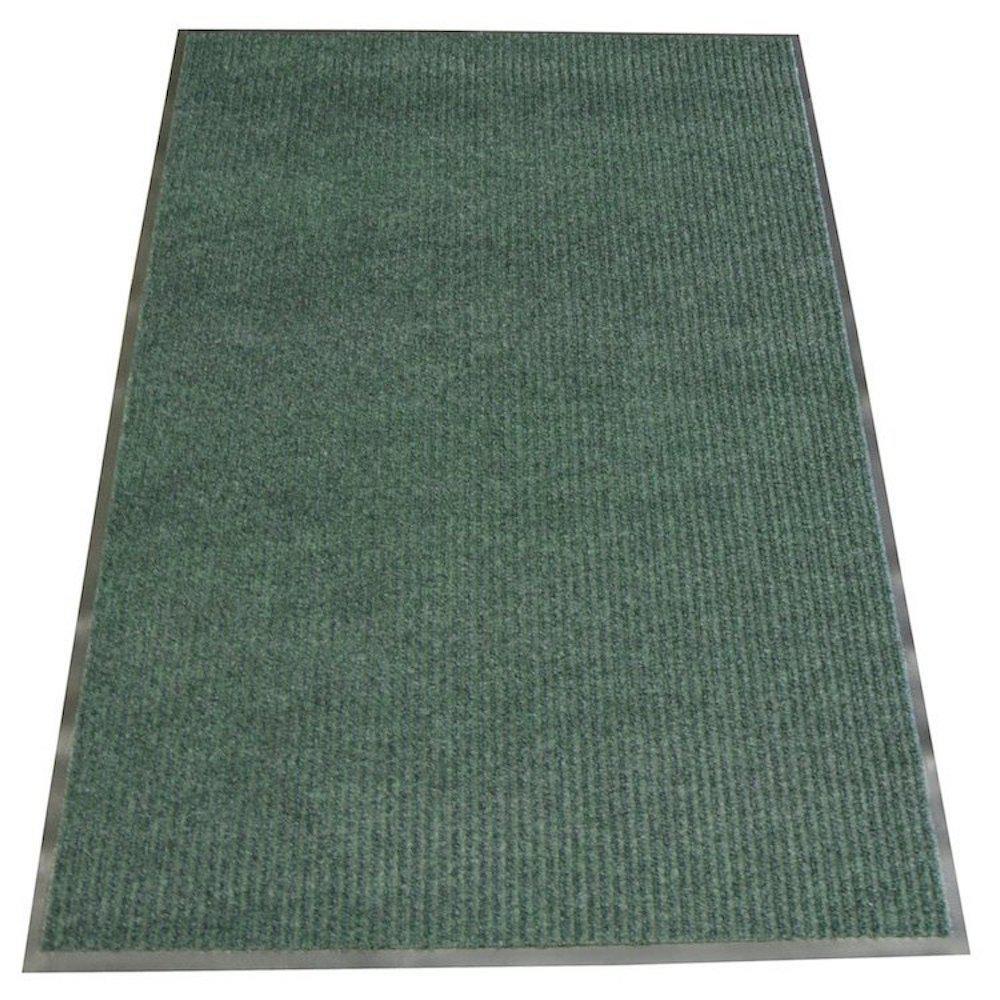 Ribbed Polypropylene Green 3 ft. x 5 ft. Polypropylene Carpet Mat