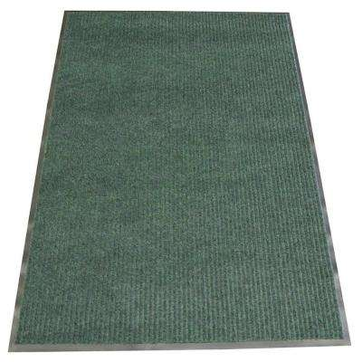 Ribbed Polypropylene Green 4 ft. x 6 ft. Polypropylene Carpet Mat