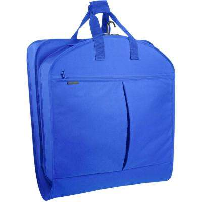 40 in. Royal Blue Suit Length Carry-On Garment Bag with 2-Pockets