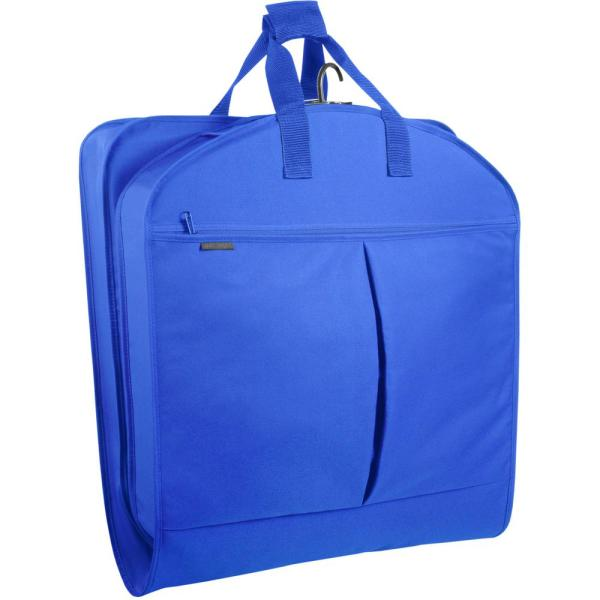 WallyBags 40 in. Royal Blue Suit Length Carry-On Garment Bag with