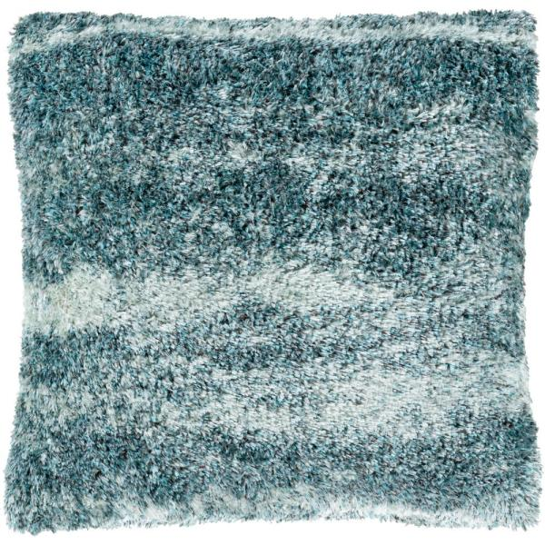 Karoline 27 in. x 27 in. Ocean Solid Polyester Standard Throw Pillow