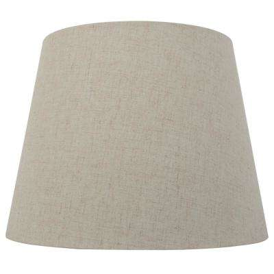 Mix and Match 12 in. Dia x 9 in. H Oatmeal Round Midsize Lamp Shade