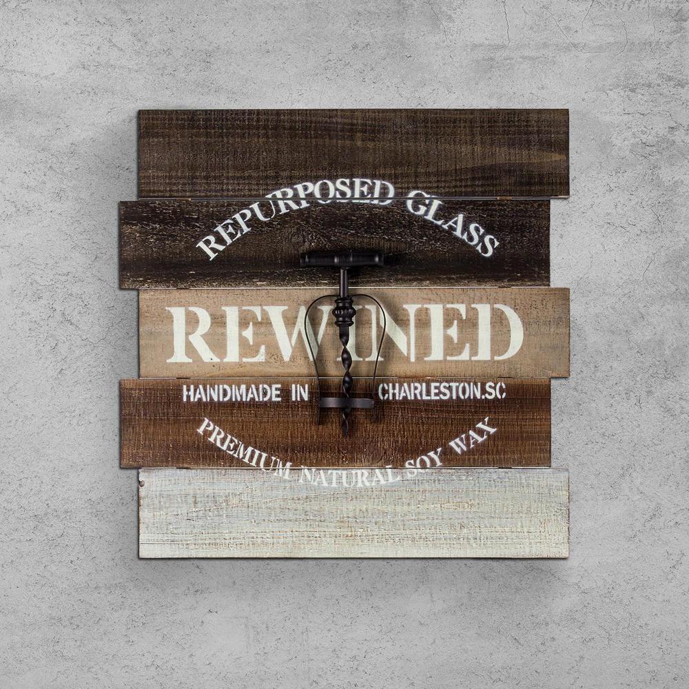 Crystal Art Gallery Corkscrew Wooden Pallet Wine Wall Art