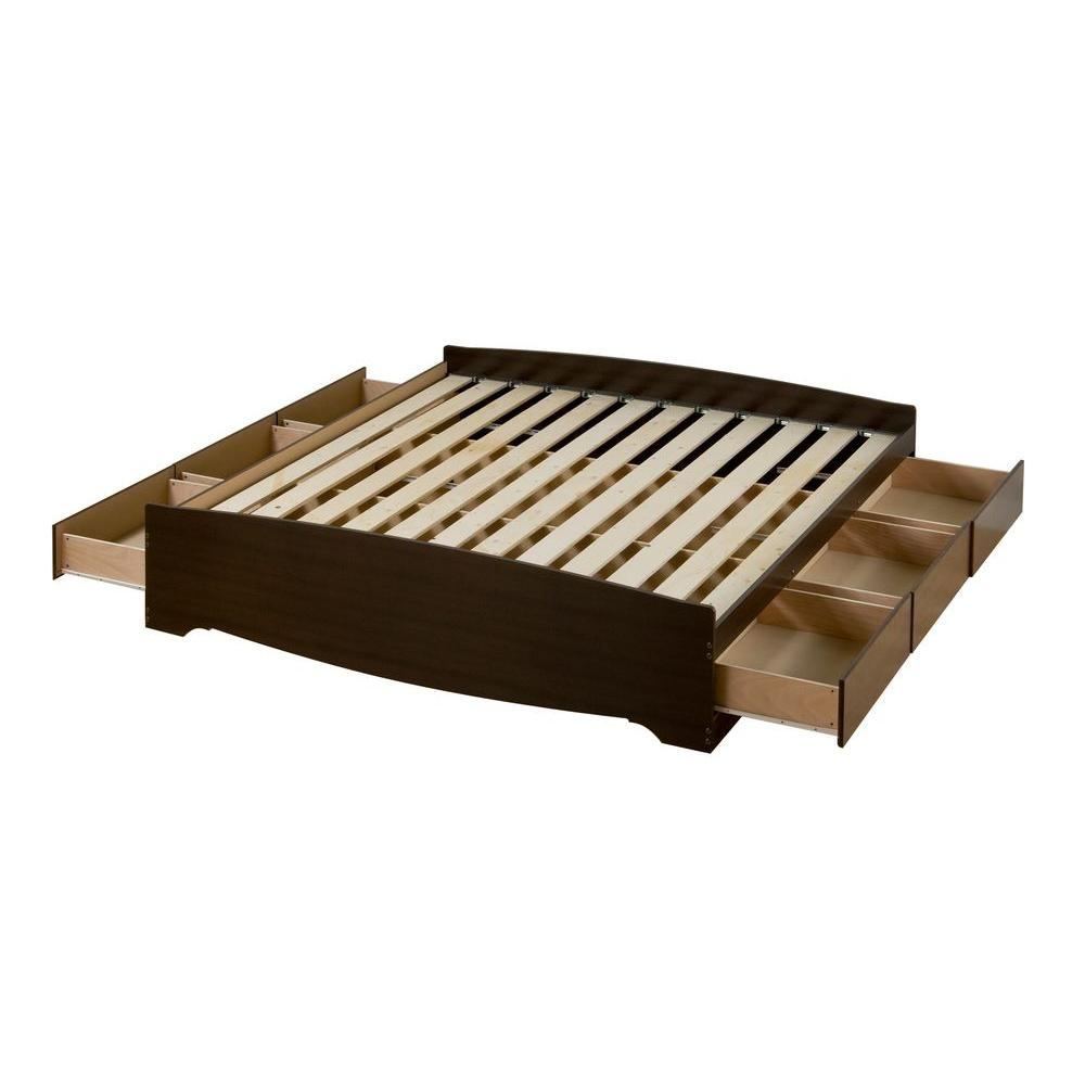 Prepac Fremont King Wood Storage Bed