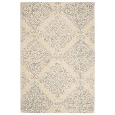 Glamour Ivory/Silver 4 ft. x 6 ft. Area Rug