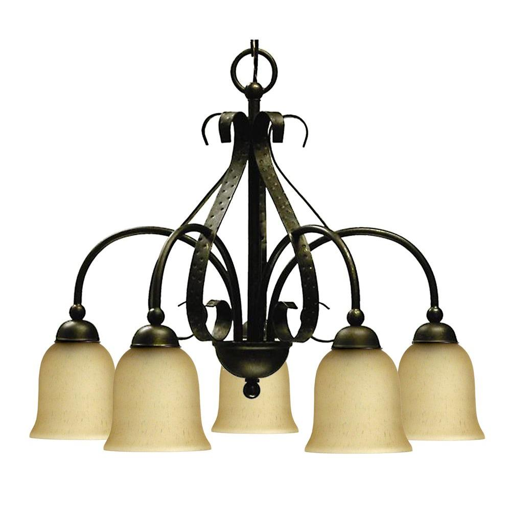 Marquis Lighting 5-Light Old English Bronze Chandelier