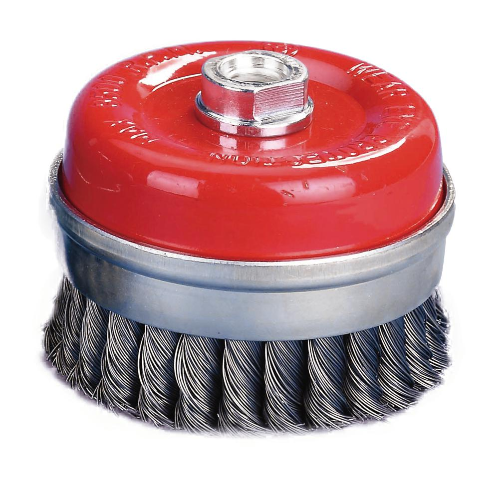 3-1/8 in. x 5/8 in.-11 Threaded Arbor Twist Wire Cup Brush