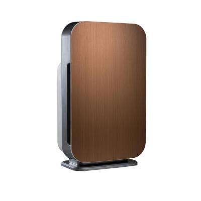 Customizable Air Purifier with HEPA-Pure Filter to Remove Allergies and Dust in Brushed Bronze