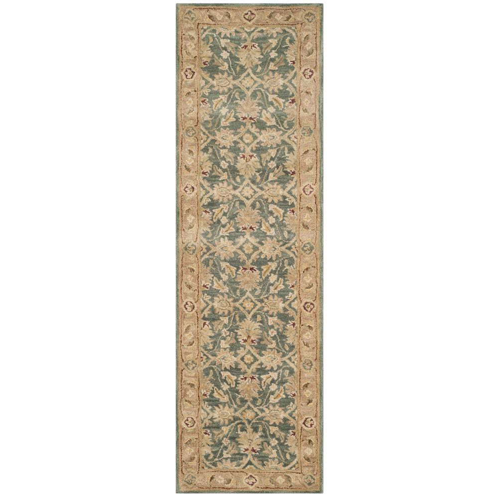 Safavieh Antiquity Teal Blue/Taupe 2 Ft. 3 In. X 8 Ft