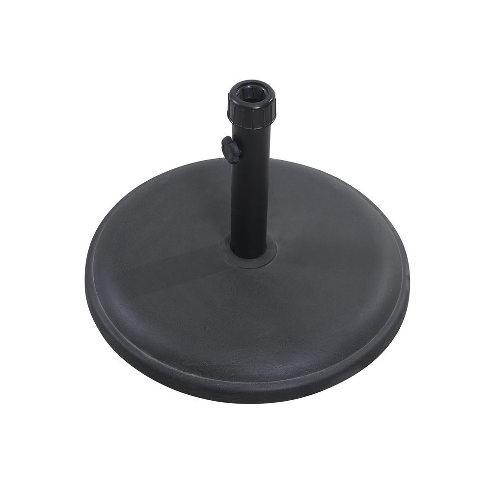 Concrete Patio Umbrella Base In Black