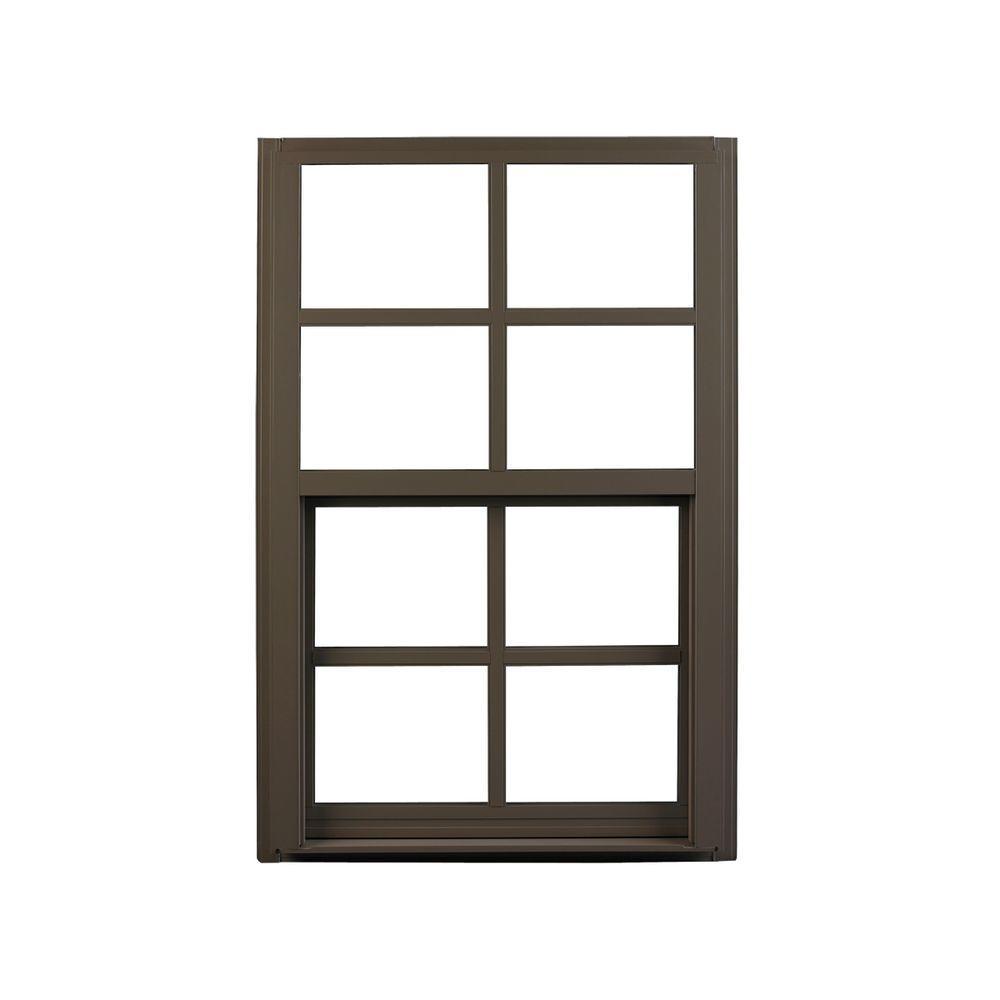 ply gem windows home depot sliding ply gem 3525 in single hung aluminum window bronze