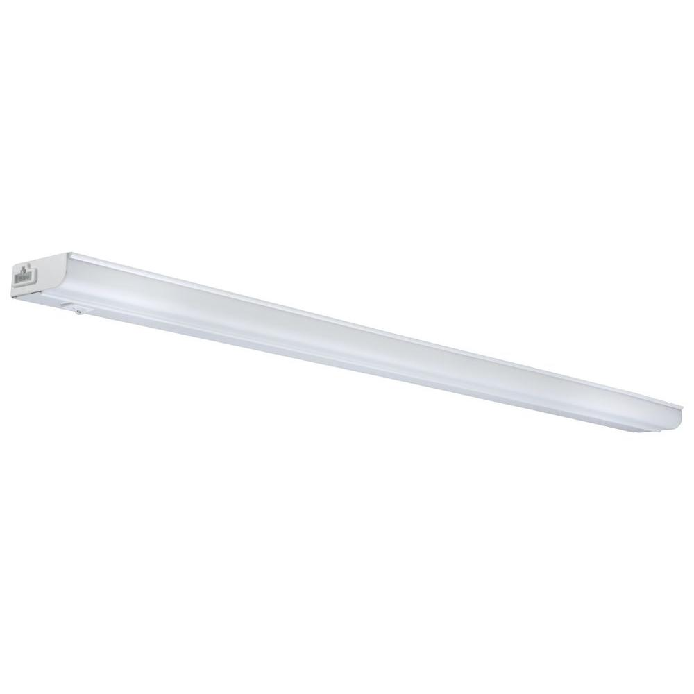 lithonia lighting 34 in white t5 fluorescent under cabinet light rh homedepot com under cabinet fluorescent light fixture 18 white under cabinet fluorescent light fixture