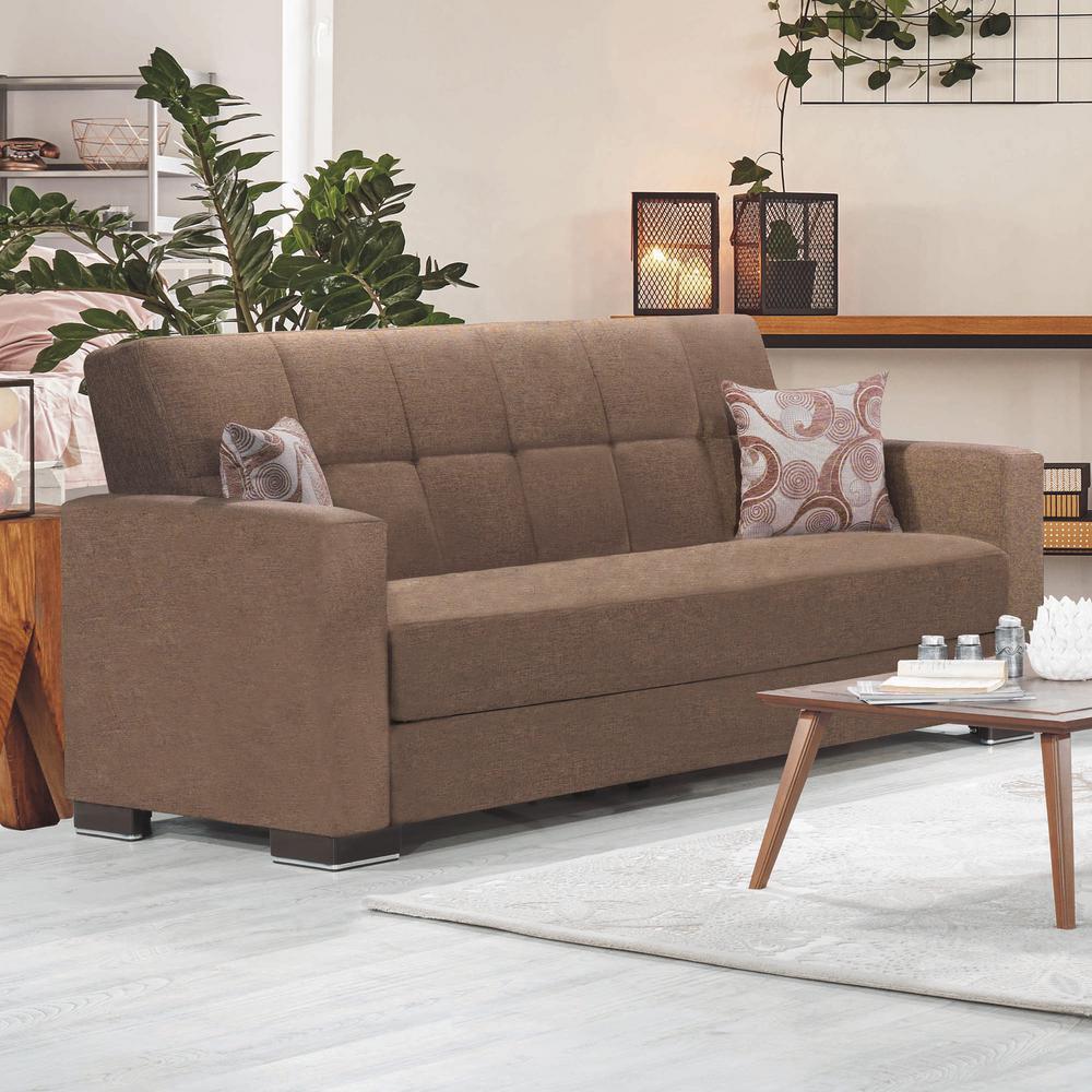 Super Ottomanson Armada Dark Beige Fabric Upholstery Sofa Sleeper Lamtechconsult Wood Chair Design Ideas Lamtechconsultcom
