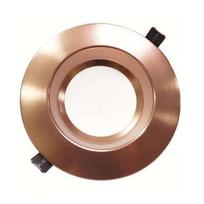 Housing-Free 6 in. Bronze Integrated LED Recessed Downlight Kit in 4000K
