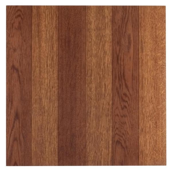 Sterling Medium Oak Plank 12 in. x 12 in. Peel and Stick Vinyl Tile (20 sq. ft. / case)