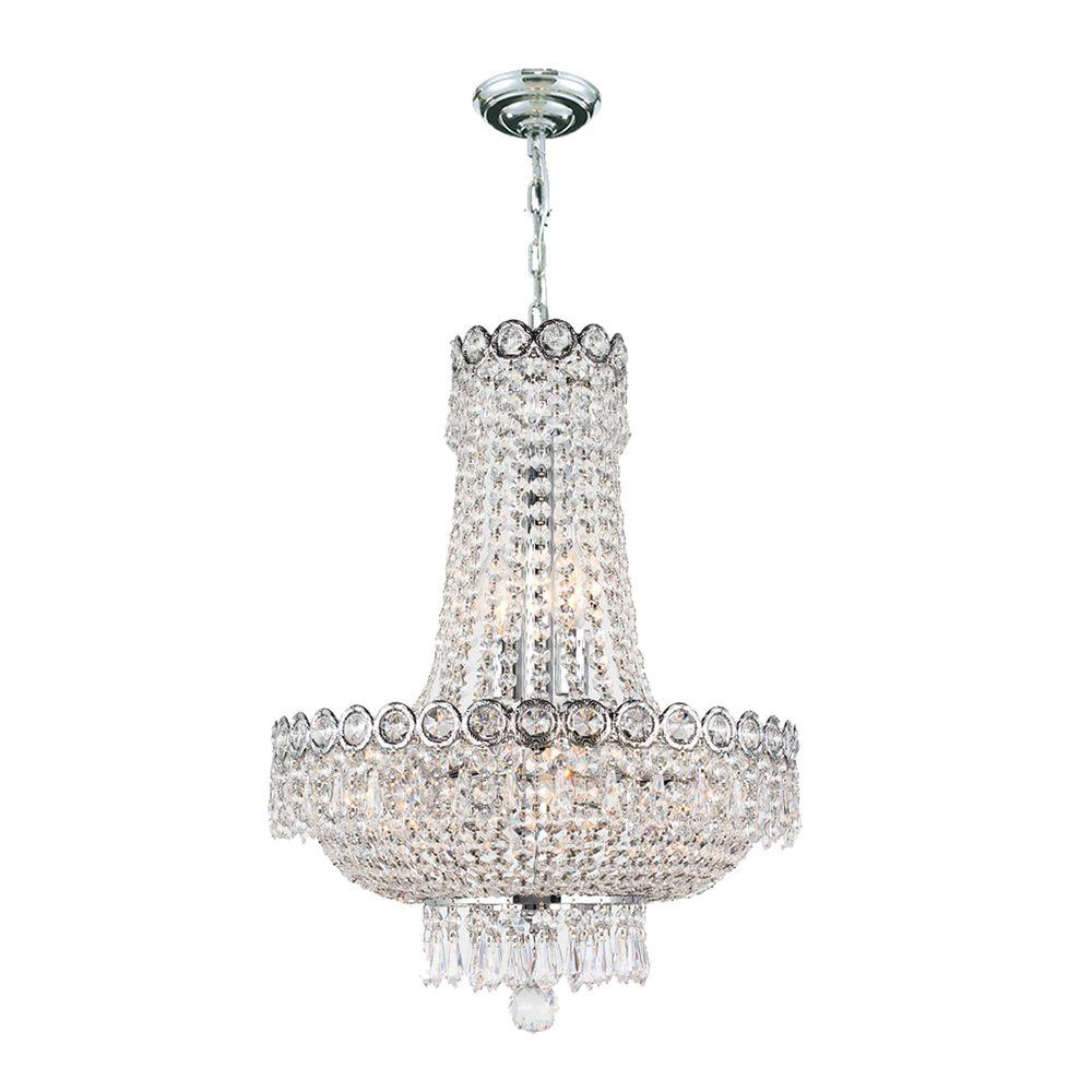 Crystal Chandelier Grades: Worldwide Lighting Empire Collection 8-Light Polished