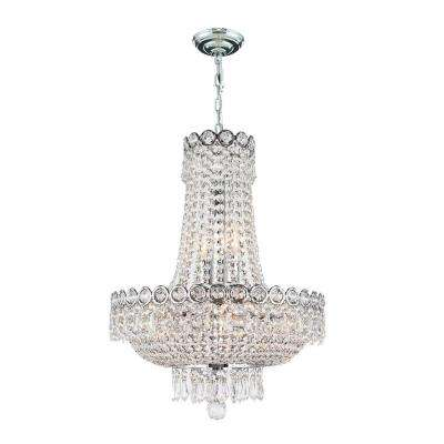 Empire Collection 8-Light Polished Chrome Crystal Chandelier