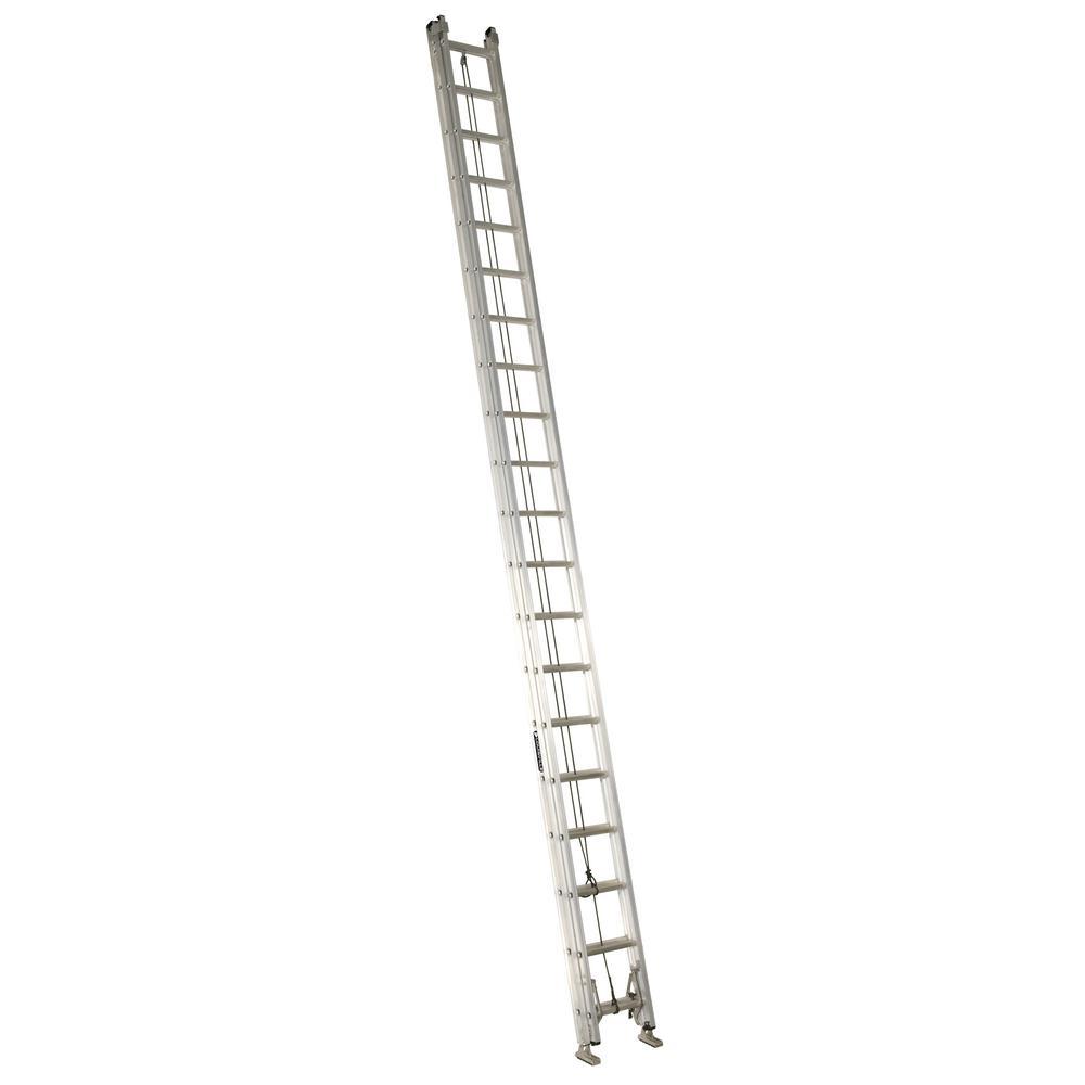 Howard Aluminum Extension Ladder : Louisville ladder ft aluminum extension with