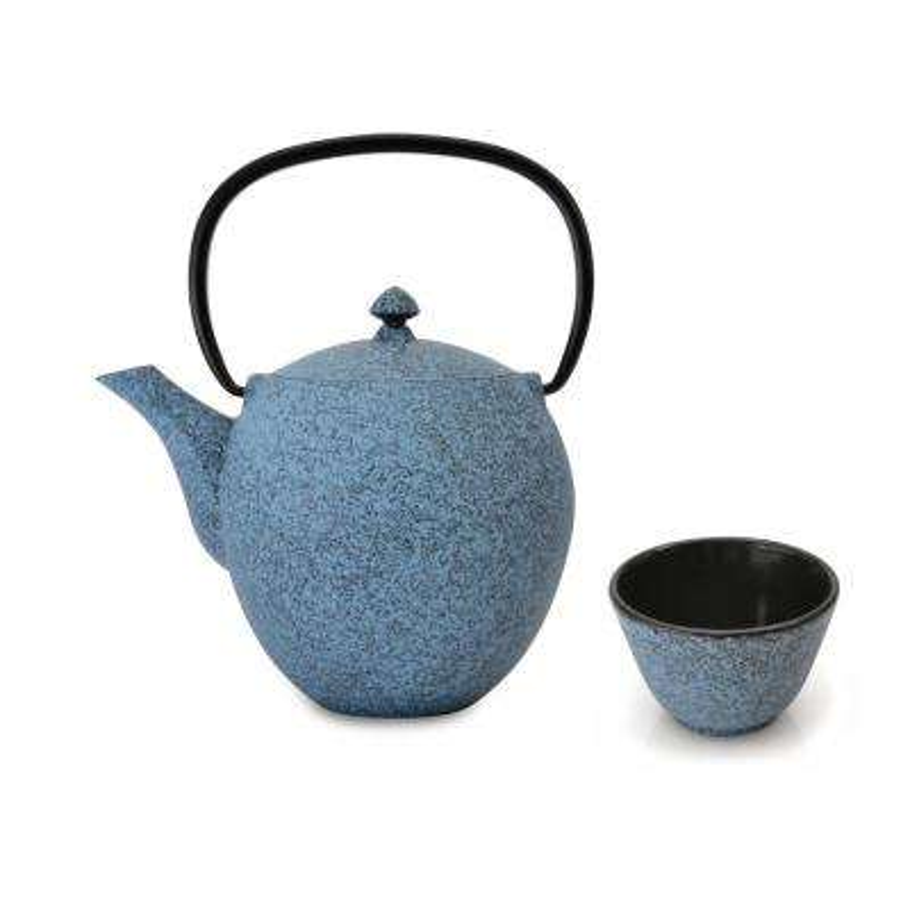 Studio 4.2-Cups Blue Cast Iron Tea Pot Set
