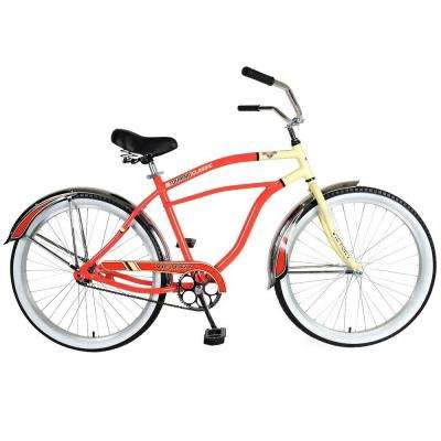 Touring 126M Cruiser Bicycle, 26 in. Wheels, 19 in. Frame, Men's Bike in Red