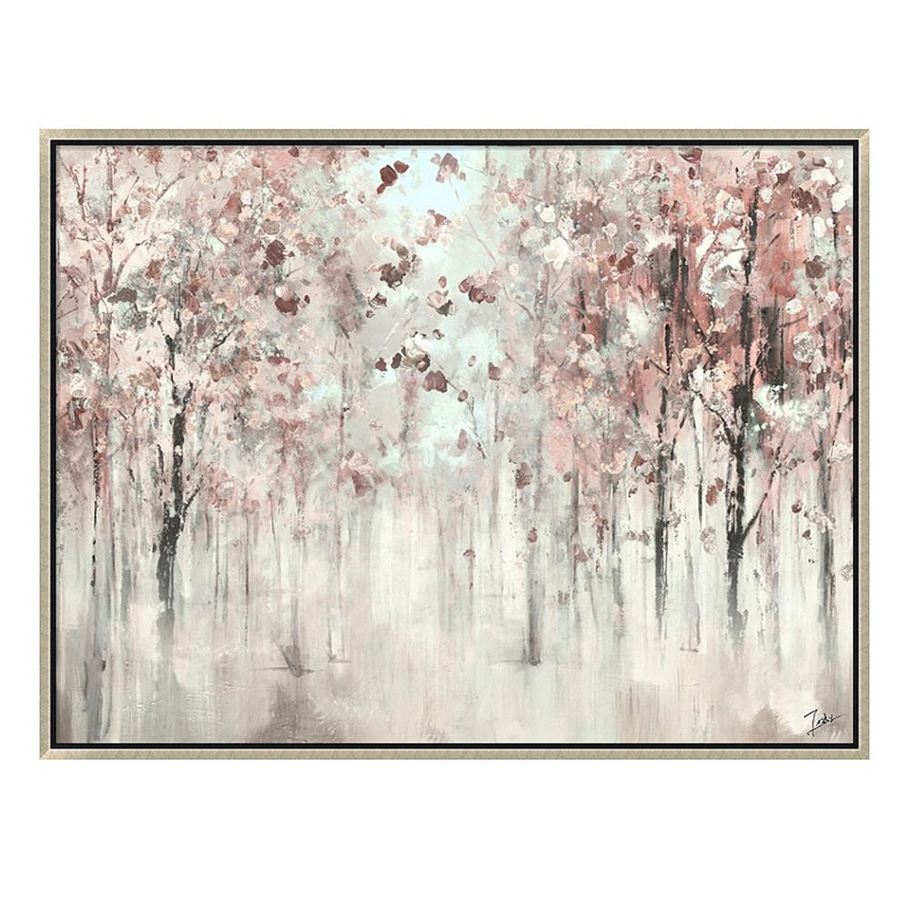 Pink Trees In Silver Wooden Floating