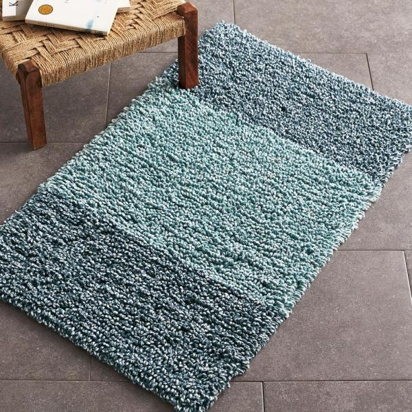 Ultra Soft High Pile Plush Bath Mat Rug 21in X 34in Non: The Company Store Borderline Neutral 21 In. X 34 In
