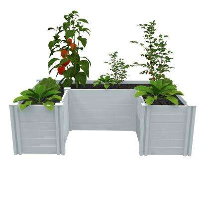 Independence 4 ft. x 6 ft. White PVC Raised Garden Bed
