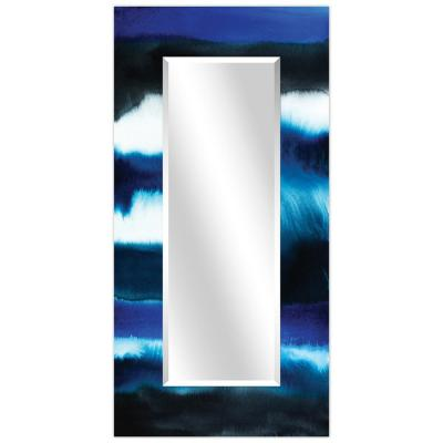 Oversized Rectangle Multi-Colored Beveled Glass Modern Mirror (72 in. H x 36 in. W)