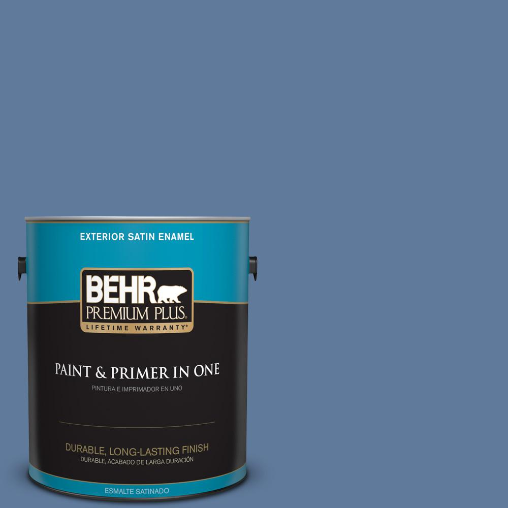 1 gal. #PPU14-02 Glass Sapphire Satin Enamel Exterior Paint