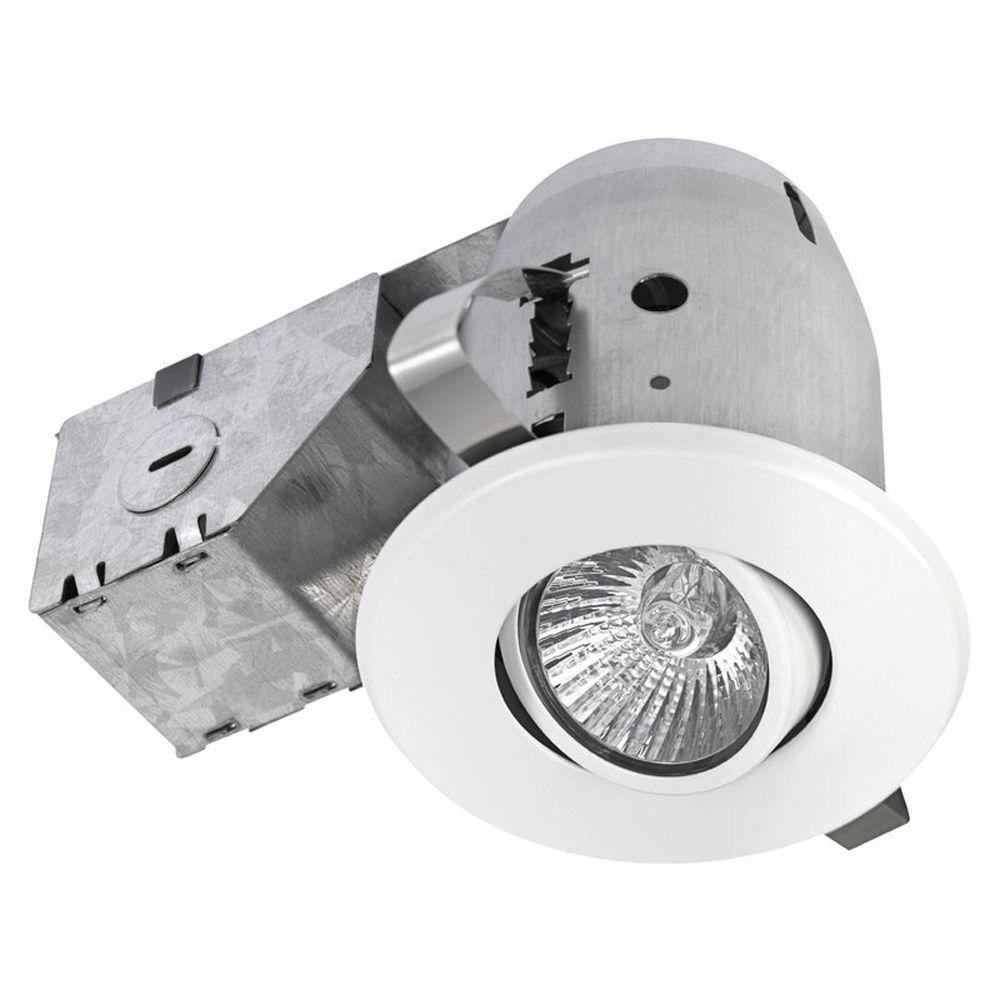 Recessed Lighting Electric Bill : Lithonia lighting in matte white recessed open light