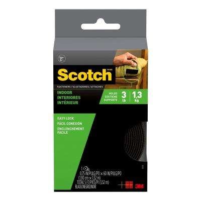 Scotch 3/4 in. x 5 ft. Black Indoor Fasteners (1 Set-Pack)