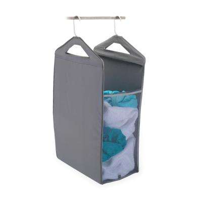 Hanging Closet Hamper in Gray